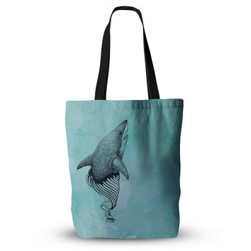 "Graham Curran ""Shark Record III"" Everything Tote Bag"