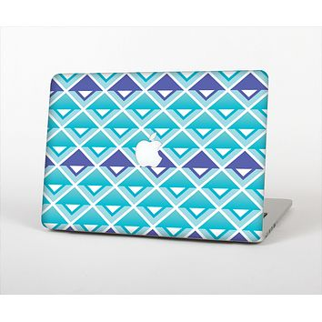 The Triangular Teal & Purple Abstract Cubes Skin Set for the Apple MacBook Pro 13""