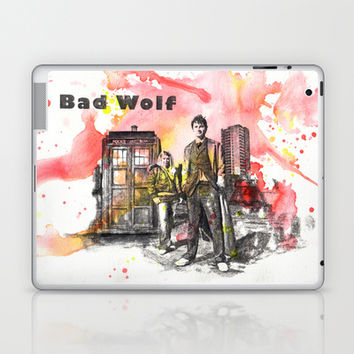 Doctor Who 10th Doctor David Tennant With Companion Rose Tyler Laptop & iPad Skin by idillard