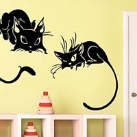 Wall Decals Cat Kitten Animal Vinyl Decal Sticker Home Interior Design Art Mural Nursery Home Bedroom Decor C490