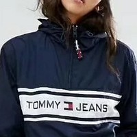x1love  Tommy Hilfiger Fashion Hooded Zipper Cardigan Sweatshirt Jacket Coat Windbreaker Sportswear