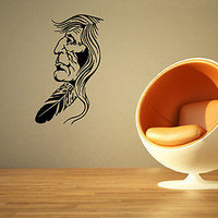 INDIAN MAN PEOPLE CUTE WALL VINYL STICKER  DECALS ART MURAL D1147
