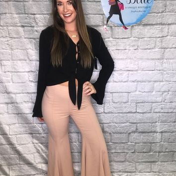 Fit And Flare Mauve Pants