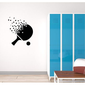 Vinyl Decal Ping-Pong Racket Table Tennis Wall Sticker Sport Decor Unique Gift (g066)