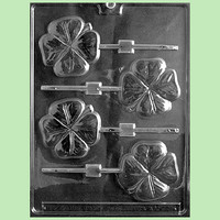 Clover Lollipop Chocolate Mold