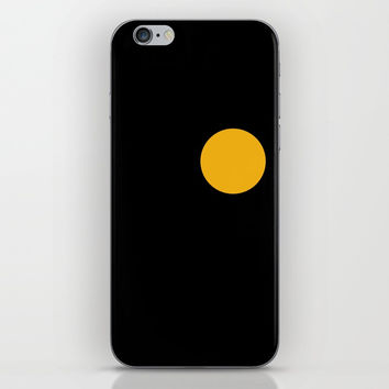 yellow point iPhone Skin by netzauge