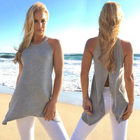 Modesto Open Back Knit Top
