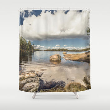 Dip my toes Shower Curtain by HappyMelvin