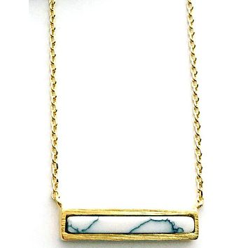 Adorn 512 - Howlite Bar Necklace