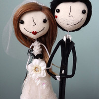 Super Sweet and Charming Custom Keepsake Wedding Cake Toppers