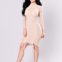 Get Into It Dress - Nude