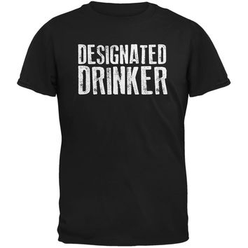 Designated Drinker Black Adult T-Shirt