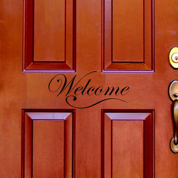 Welcome - door wall decal