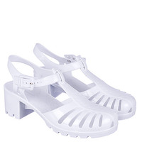 Bamboo Sugar-01 Women's White Low Heel Jelly Sandals | Shiekh Shoes
