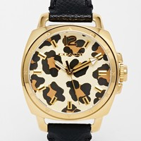 Coach Boyfriend Leopard Watch