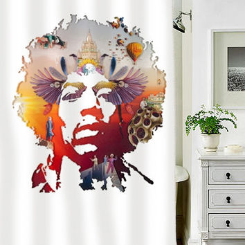 Jimi Hendrix Voodoo special custom shower curtains that will make your bathroom adorable