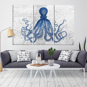 44607 - Octopus Wall Art- Octopus Canvas Print- Octopus Poster Print- Wall Art Octopus- Octopus Wall Decor