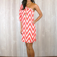 Head Over Heels For Chevron Dress