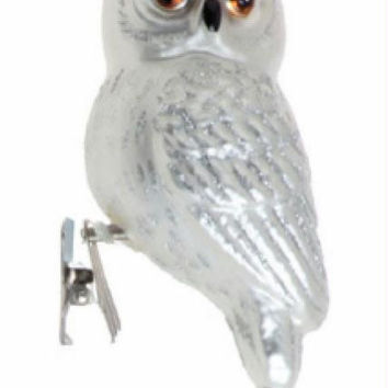 Clip-on Owl Ornament - Equipped With A Metal Clip Via A Tightly Wound Spring For Immediate Use And Bobble Action
