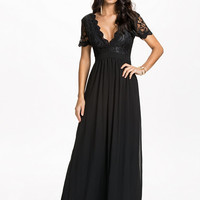 Scalloped Lace Maxi Dress, Club L