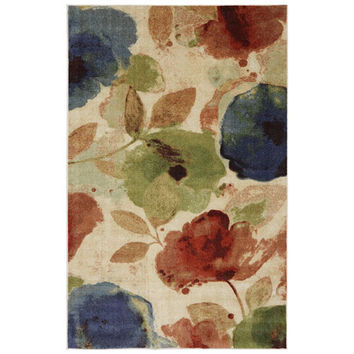 Mohawk Home 11684 473 096120 Watercolor Floral Rectangular: 8 Ft. x 10 Ft. Rug - (In Rectangular)