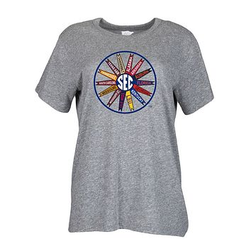 SEC Pinwheel Tee in Grey by Lauren James