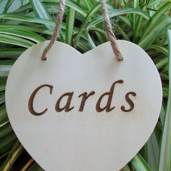 Wood Heart Card Sign, Card Box Sign, Wood Heart, Rustic Wedding, Wedding Sign, Cards Sign, Wooden Cards Sign, Wedding, Shower, Engagement