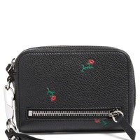 Alexander Wang Fumo Rose Grainy Leather Wristlet | Nordstrom