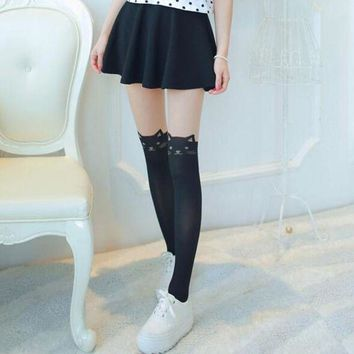 CREYONRZ Trendy Sexy Women Cat Tail Gipsy Mock Knee High Hosiery Pantyhose Panty Hose Tattoo Tights High Quality Fashion Accessory