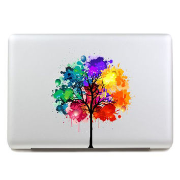 LoveDecalHome decal colors tree sticker partial cover Pro decal Skin for Macbook Air 13 Sticker Macbook decal