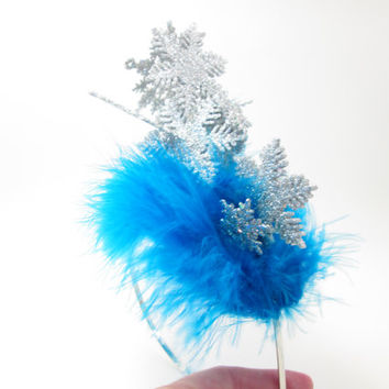 Wacky Tacky Frozen Snowflake Pileup - crazy elf hat - holiday party - Blue Christmas - Ugly Christmas Sweater Party