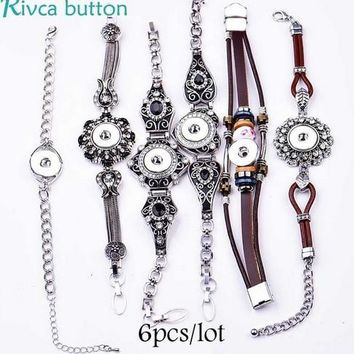 Mixed Rivca Adjustable Snap Button alloy Bracelet ginger snap Charms Jewelry Bracelet 18mm fashion snap button charm bracelet