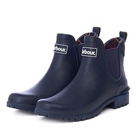 Women's Wilton Wellingtons in Navy by Barbour