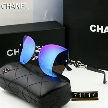Chanel Trending Women Men Stylish Sunglasses Sun Shades Eyeglasses Glasses #2 Blue I-A-SDYJ
