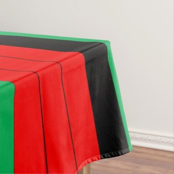 Kwanzaa Red Black Green Kinara Striped Pattern Tablecloth