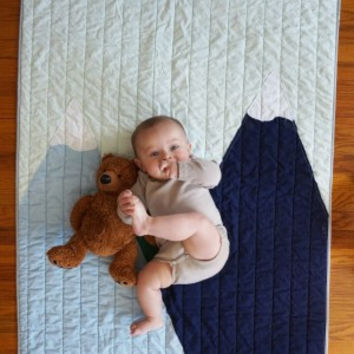 American Made Brand baby quilt