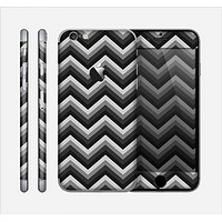 The Black Grayscale Layered Chevron Skin for the Apple iPhone 6