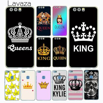 Cool Lavaza Princess Queen King Pair Best Friends Emoji Case for Huawei P20 Pro P10 P9 Plus P8 Mate 10 Lite Mini 2017 2016 P smartAT_93_12