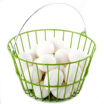 FARM PRODUCTS - WIRE EGG BASKET  HOLDS 24 EGGS
