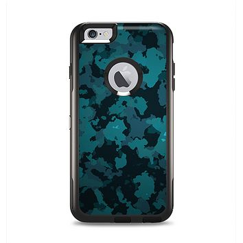 The Teal Vector Camo Apple iPhone 6 Plus Otterbox Commuter Case Skin Set