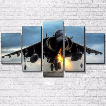 Military Jet Aircraft AirPlane Wall Decor Picture Panel Print For Living Room Fr