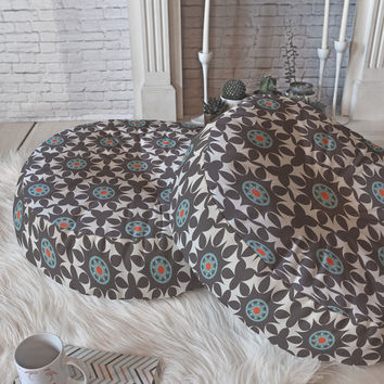 Heather Dutton Amirah Dusk Floor Pillow Round