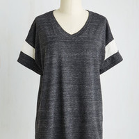 Menswear Inspired Mid-length Short Sleeves Kind of, Sportive Top