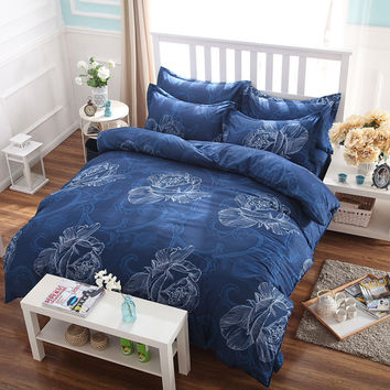 bedding set, super soft and fashionable bed coverlet set, bed linen, king Queen full size,4 pcs, fast shipping!