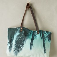 Hawaiian Palms Tote by Samudra Hawaiian Blue One Size Bags