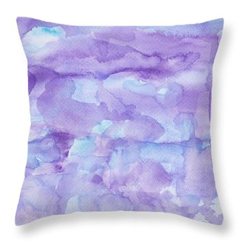 "Dyed water Throw Pillow 14"" x 14"""