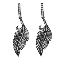 2 1/8ct tw Diamond Fashion Earrings in Sterling Silver with Black Rhodium - Diamond Earrings - Jewelry & Gifts
