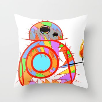 Fan Art BB8 Throw Pillow by Mrnobody