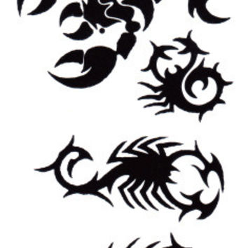 HC1164 Waterproof Fake Tattoo Stickers Women Sexy Chest Wrist Bracelets Flash Tattoo Scorpion Design Temporary Tattoos for Boys