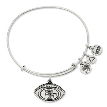 San Francisco 49ers Football Charm Bangle